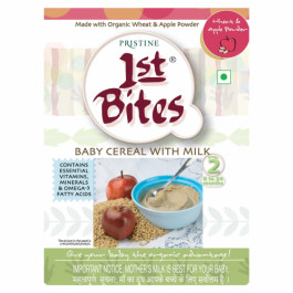 Pristine 1st Bites Organic Wheat & Apple Baby Cereal Stage 2, 300gm
