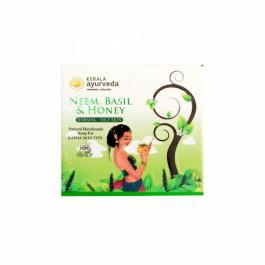 Kerala Ayurveda Natural Handmade Neem Basil & Honey Soap, 125gm