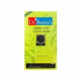 Dr Batra's Herbal Hair Colour Cream, 130gm (Black)