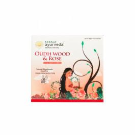 Kerala Ayurveda Natural Handmade Oudh Wood & Rose Soap , 125gm
