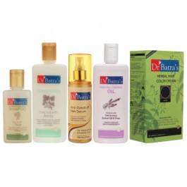 Dr Batra's Hair Shampoo, Conditioner, Hair Oil, Herbal Hair Color Cream Black and Hair Serum