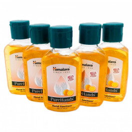 Himalaya PureHands Orange Hand Sanitizer 60% Alcohol, 85ml - Kills 99.9% Germs (Pack Of 5)