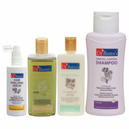 Dr Batra's Hair Vitalizing Serum, Hair Fall Control Shampoo, Hair Oil with Conditioner