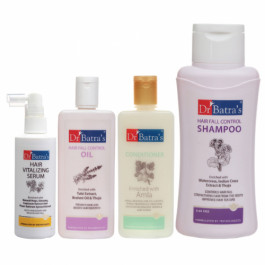 Dr Batra's Hair Vitalizing Serum, Hair Fall Control Shampoo, Hair Oil, with Conditioner