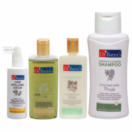 Dr Batra's Hair Vitalizing Serum, Dwithruff Cleansing Shampoo, Hair Oil with Conditioner