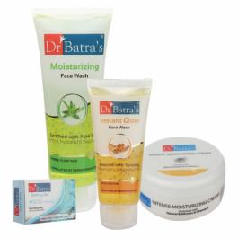 Dr Batra's Face Wash Moisturizing, Instant Glow, Refreshing Bathing Bar with Moisturizing Cream