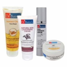 Dr Batra's Skin Serum, Face Wash Instant Glow, Natural Skin Cream with Cream