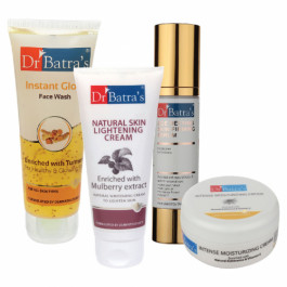 Dr Batra's Serum, Face Wash Instant Glow, Natural Skin Cream with Moisturizing Cream