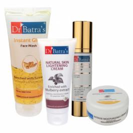 Dr Batra's Serum, Face Wash Instant Glow, Natural Skin Cream, with Intense Moisturizing Cream