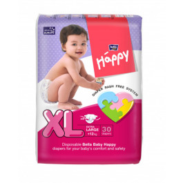 Bella Baby Happy Diapers Extra Large, 30 Pieces