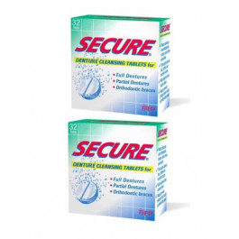 Secure Denture Cleansing, 32 Tablets - Pack Of 2