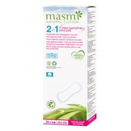 Masmi Organic Cotton Pantyliner - Maxiplus, 24 Ultra Pads