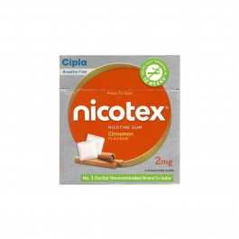 Nicotex 2mg Cinnamon Flavour Sugar Free Gums, Pack Of 3