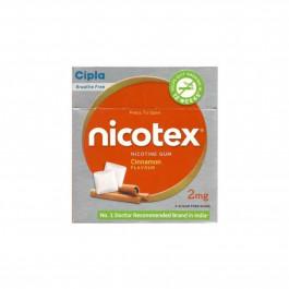Nicotex 2mg Cinnamon Flavour Sugar Free Gums, Pack Of 3