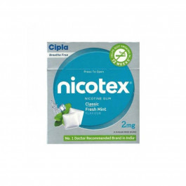 Nicotex 2mg Classic Fresh Mint Flavour, Pack of 10