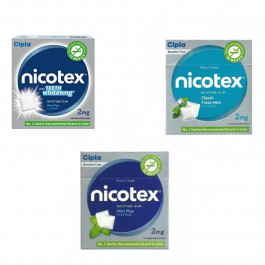Nicotex 2mg Paan, Teeth Whitening Mint Plus & Mint Plus Flavour, Pack of 3