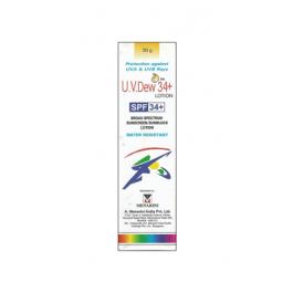 U.V. Dew 34 Plus Sunscreen Lotion, 30gm