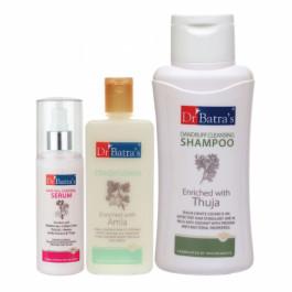 Dr Batra's Hair Fall Control Serum, 125ml & Conditioner, 200ml With Dandruff Cleansing Shampoo, 500ml