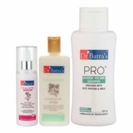 Dr Batra's Hair Fall Control Serum, 125ml & Conditioner, 200ml With Pro+ Intense Volume Shampoo, 500ml