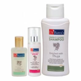 Dr Batra's Hair Fall Control Serum, 125ml & Conditioner, 100ml With Dandruff Cleansing Shampoo, 500ml