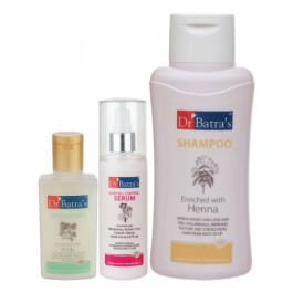 Dr Batra's Hair Fall Control Serum, 125ml & Conditioner, 100ml With Normal Shampoo, 500ml