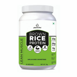 PlantVita Brown Rice Protein For Lean Muscle Gain, 1kg