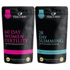 Teacurry Thyro Herbal Tea + Women Fertility, 30 Tea Bags (Pack Of 2)