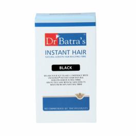 Dr Batra's Instant Hair Natural keratin Hair Building Fibre, 12gm (Black)