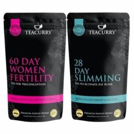Teacurry Fertili Support Slimming Tea for Women, 100 Tea Bags (Pack Of 2)