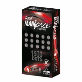 Manforce Litchi 1500 Dots Condoms, 10 Pieces