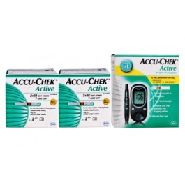 Accu Chek Active Meter + 200 Strips DOUBLE SUPER COMBO OFFER