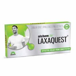 AlchemLife LaxaQuest Natural Effective Relief from Constipation, 10 Capsules