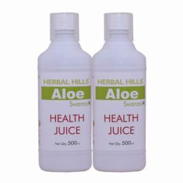 Herbal Hills Aloe vera Swaras Health Juice, 500ml (Pack Of 2)