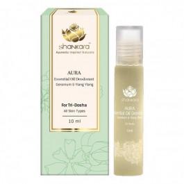 Shankara Aura Essential Oil Deodorant - Geranium & Ylang Ylang, 10ml