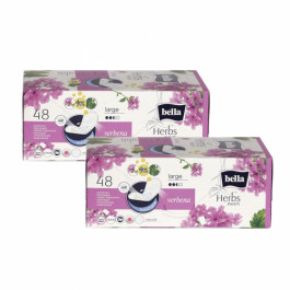 Bella Herbs Pantyliners Large With Verbena, 48 Pieces ( Pack Of 2)