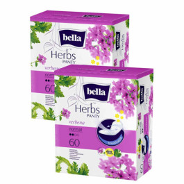 Bella Herbs Pantyliners With Verbena, 60 Pieces (Pack Of 2)
