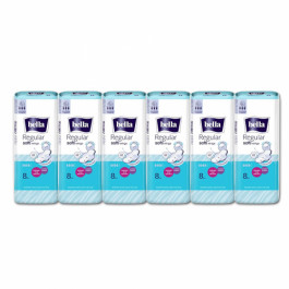 Bella Regular Softi Wings Classic Sanitary Pads, 8 Pieces (Pack Of 6)