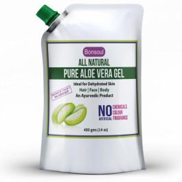 Bonsoul All Natural Pure Aloe Vera Gel, 400gm