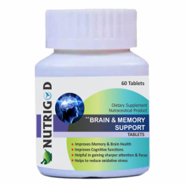 Nutrigod Brain And Memory Support, 60 Tablets