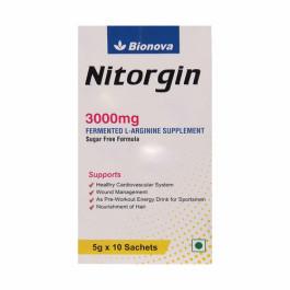Bionova Nitorgin 3000mg Sugar Free Sachet, 10x5gm
