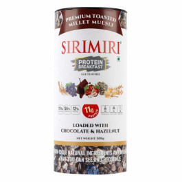 Sirimiri Premium Toasted Millet Muesli With Chocolate & Hazelnut, 500gm