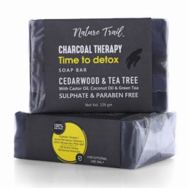 Nature Trail Charcoal Therapy Soap Bar, 125gm (Pack Of 2)
