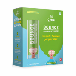 Chicnutrix Bounce Hair Recovery Complex Biotin With Selenium Effervescent - Green Apple Flavour, 60 Tablets