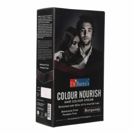 Dr Batra's Colour Nourish Hair Colour Cream, 120gm (Burgundy)
