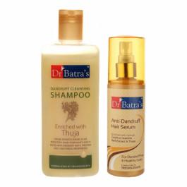 Dr Batra's Dandruff Cleansing Shampoo With Anti Dandruff Hair Serum Combo Pack