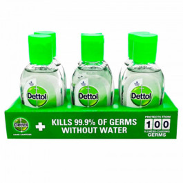 Dettol Instant Disinfectant Hand Sanitizer 72.34% Alcohol, 50ml - Kills 99.9% Germs (Pack Of 6)