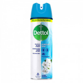 Dettol Disinfectant Spray - Spring Blossom, 170gm - 76.99% Absolute Alcohol - Kills Cold & Flu Virus