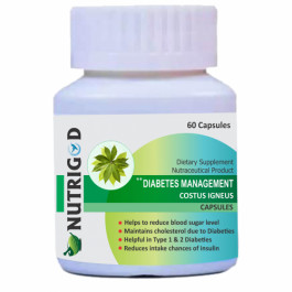 Nutrigod Diabetes Management Costus Igneus, 60 Capsules