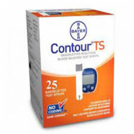 Contour TS Blood Glucose Test Strips, 25's
