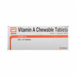 Vitamin A Chewable, 10 Tablets